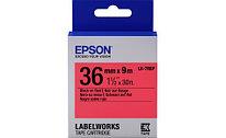 Лента Epson C53S657004 LK-7RBP Пастельная лента 36мм Красн./Черн.  9м