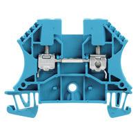 1020180000 Клемма WDU 4 BL Проходная клемма, Винтовое соединение, 4 mm², 800 V, 32 A, синий