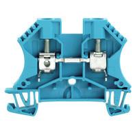 1020280000 Клемма WDU 6 Проходная клемма, Винтовое соединение, 6 mm², 800 V, 41 A, синий