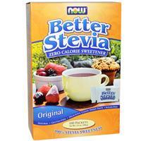 Стевия, подсластитель без калорий, 100 пакетиков в коробке, 100 г, Now Foods