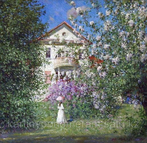 """Картина по номерам - """"Весна в усадьбе.А.Шевелёв"""""""