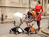 Коляска детская 2 в 1 HOT MOM  Коричневый, фото 5
