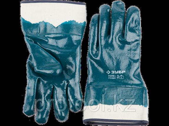 Перчатки ЗУБР рабочие с полным нитриловым покрытием, размер L (9), фото 2