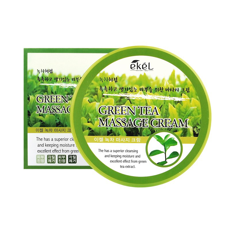 Ekel Green tea Massage Cream -  Крем для тела с экстрактом зеленого чая  для самомассажа