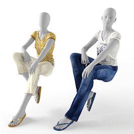 Сидячие манекены