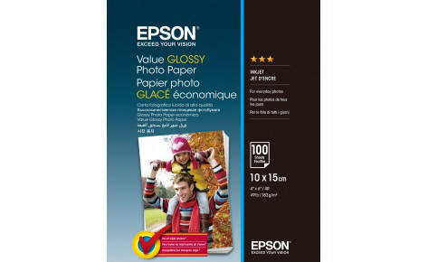 Фотобумага 10x15 Epson C13S400039 Value Glossy Photo Paper 100 sheet