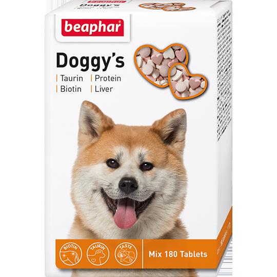 Doggy's Mix 180 т – Витаминное лакомство для собак с биотином, таурином, протеином
