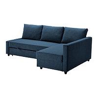 Диван-кровать угловой с отд д/хран ФРИХЕТЭН темно-синий IKEA, ИКЕА , фото 1