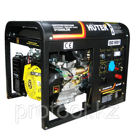 DY6500LXW Электрогенератор с функцией сварки, с колёсами Huter, фото 2