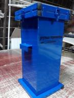 Герметичный контейнер для сбора, хранения, транспортировки на утилизацию ртутных люминесцентных ламп