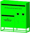 Контейнер для сбора, накопления и хранения отработанных энергосберегающих ламп,ртутных термометров КЛБ 4, фото 2