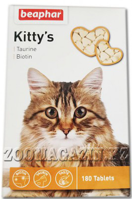 Kitty's+Taurine/Bio 180 т - Витамины с таурином и биотином для кошек