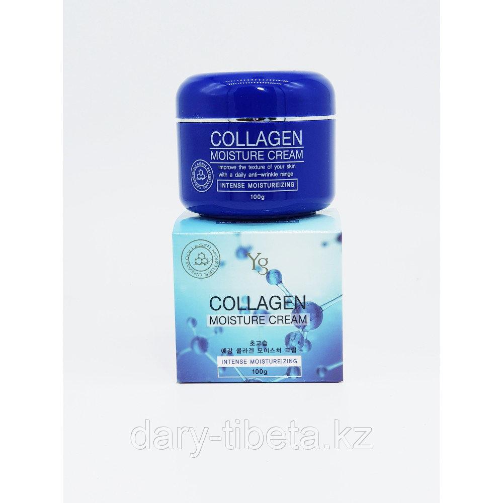 Yg Collagen Moisture Cream-Увлажняющий крем для упругости кожи лица с морским коллагеном