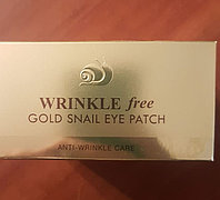 Gold Snail Eye Patch Wrinkle Free - Гидрогелевые патчи для глаз с муцином улитки против морщин 60 шт.