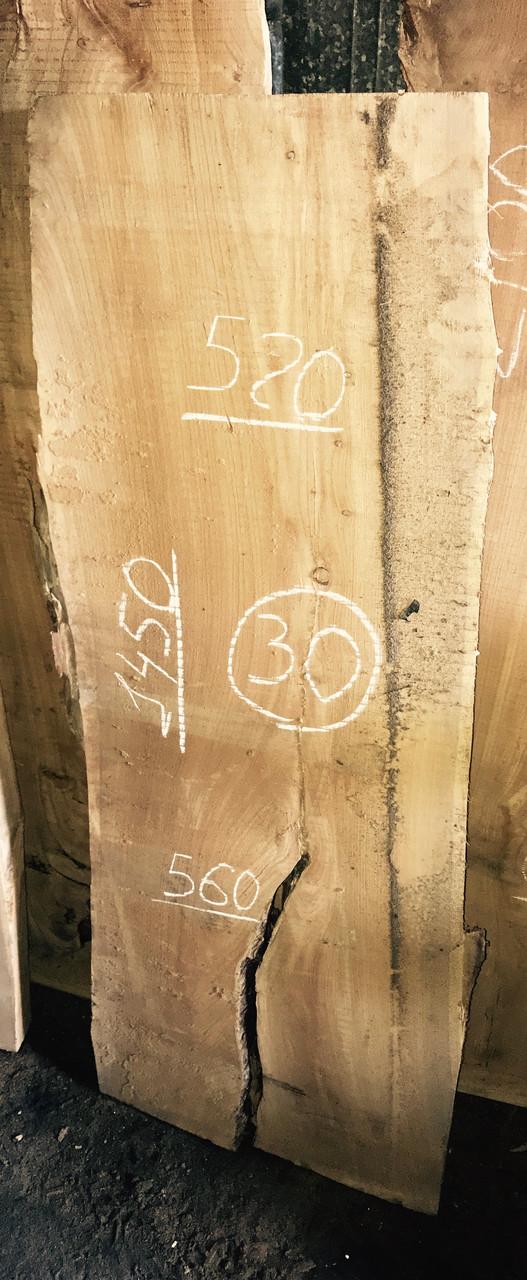Слэб из карагача 30 (1450 х 520~560 х 65 мм)