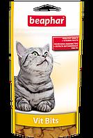 Подушечки с мультивитаминной пастой для кошек.Vit Bits/75