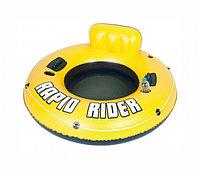 135см надувной шезлонг для отдыха на воде (43116)