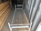 Кровать металлическая для рабочих, фото 2