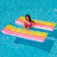 """Пляжный надувной матрас """"Радуга"""" для плавания, Intex 58876"""