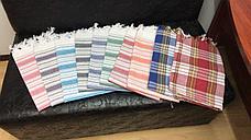 Простынь-Полотенце для сауны Пештемаль 80*180 Турция (клетка), фото 2