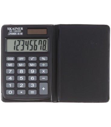 """Калькулятор карманный SKAINER """"108XBK"""" 8-разрядный"""