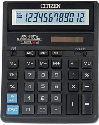 """Калькулятор настольный CITIZEN """"SDC-888Т"""" 12-разрядный черный"""