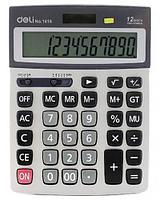 """Калькулятор настольный DELI """"1616"""" 12 разрядный серый"""