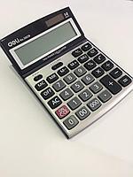 """Калькулятор настольный DELI """"39229"""" 14 разрядный серый"""