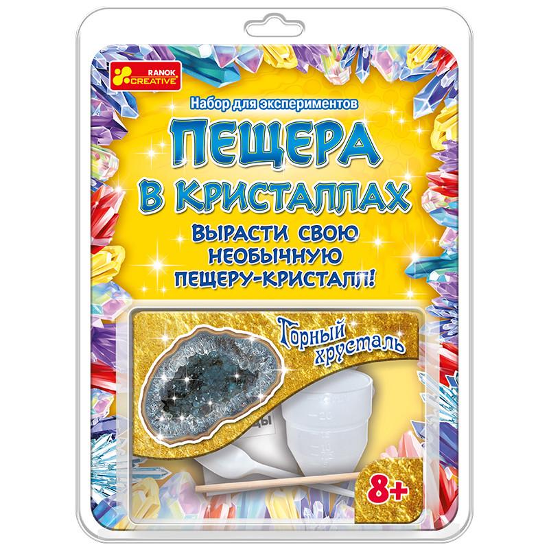 """Ranok 12115019Р Набор для экспериментов """"Пещера в кристаллах: Горный хрусталь"""""""