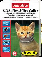 Ошейник от блох для котят.S.O.S.Junior/35см