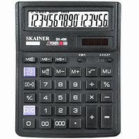 """Калькулятор настольный SKAINER """"486II"""" 16 разрядный черный"""