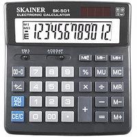 "Калькулятор настольный SKAINER ""501N"" 12 разрядный черный"