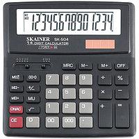 """Калькулятор настольный SKAINER """"504II"""" 14 разрядный черный"""