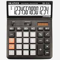 """Калькулятор настольный SKAINER """"514M"""" 14 разрядный черный"""