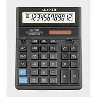 """Калькулятор настольный SKAINER """"777M"""" 12 разрядный черный"""