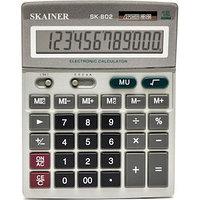 "Калькулятор настольный SKAINER ""802ML"" 12 разрядный серый"