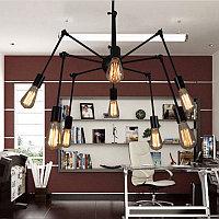Люстра паук на 8 ламп с направляемыми лампами