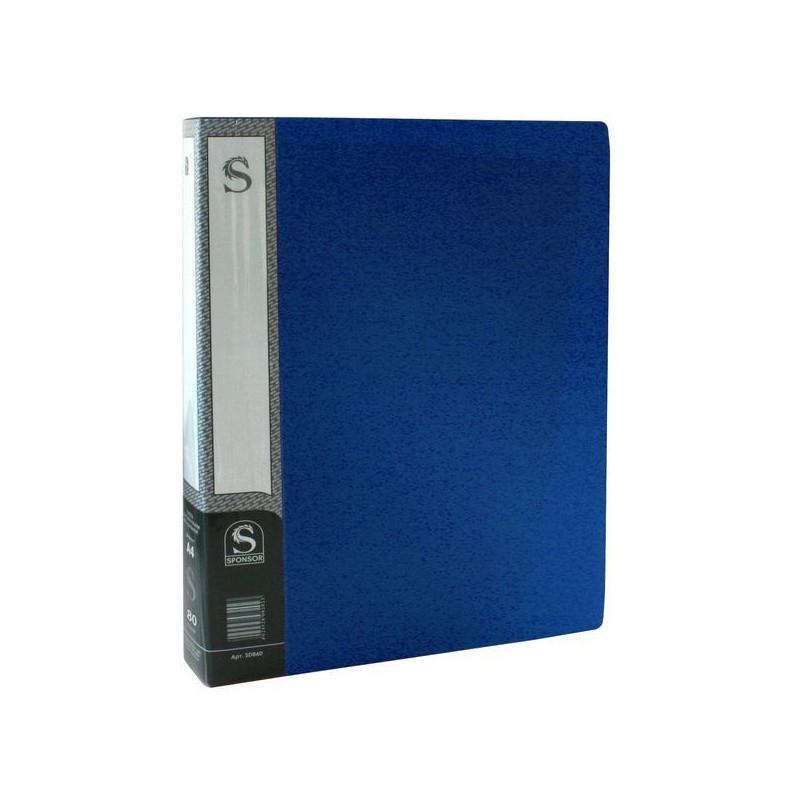Папка с файлами SPONSOR на 80 вкладышей, синяя