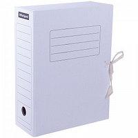 Архивный короб OfficeSpace на завязках, 250x75x320 мм, микрогофрокартон, белый