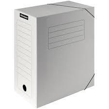 Архивный короб OfficeSpace на резинках, 235x100x325 мм, микрогофрокартон, белый