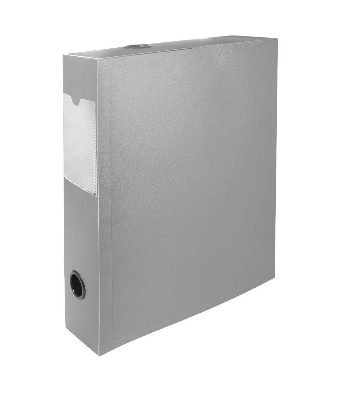 "Архивный короб SILWERHOF ""BASIC"", 330x70x245 мм, пластик, серый"