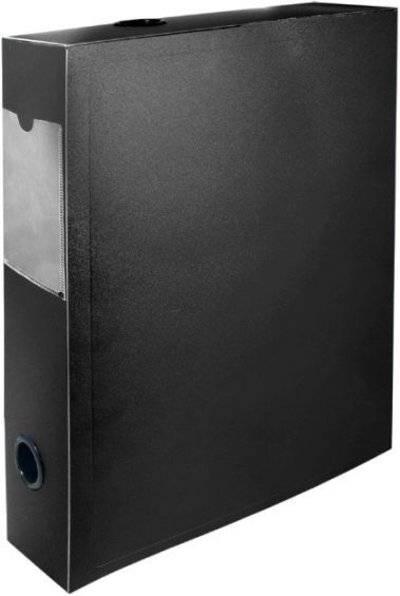 "Архивный короб SILWERHOF ""BASIC"", 330x70x245 мм, пластик, черный"