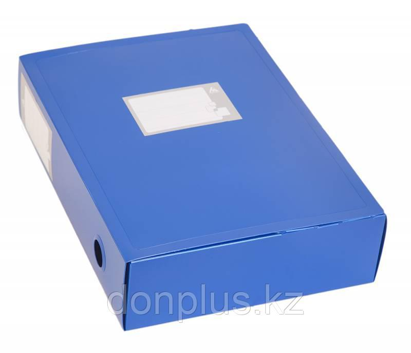Архивный короб БЮРОКРАТ, 330x100x245 мм, пластик, синий