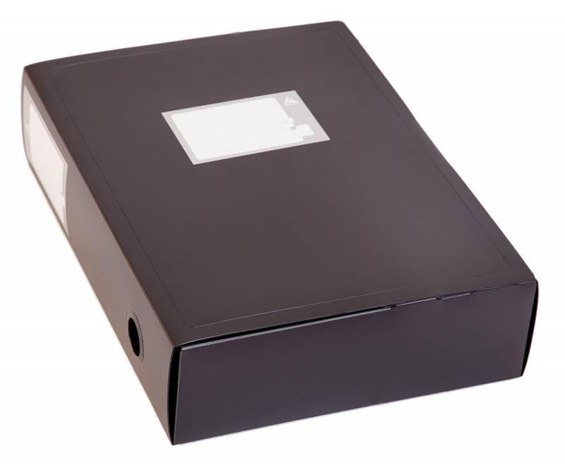Архивный короб БЮРОКРАТ, 330x80x245 мм, пластик, черный