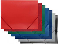 Папка на резинках SPONSOR, A4 пластиковая, синяя