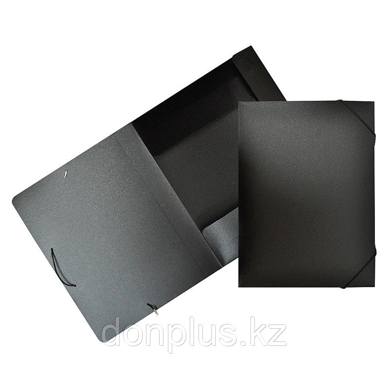 Папка-короб на резинках БЮРОКРАТ, A4 пластиковая, корешок 40 мм, черная