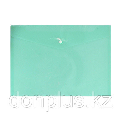 "Папка-конверт на кнопке SILWERHOF ""BASIC"", А4, 0,12 мм, песок зеленая"