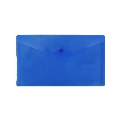 """Папка-конверт на кнопке SILWERHOF """"BASIC"""", А4, 0,12 мм, песок синяя"""
