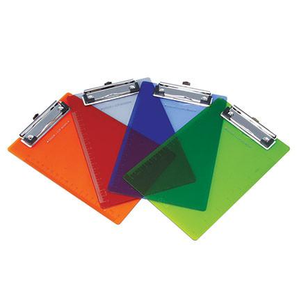 Папка-планшет DELI А4, пластиковая, ассорти