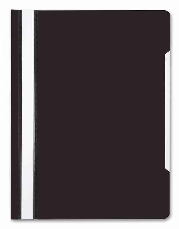 Папка-скоросшиватель БЮРОКРАТ, А4, 160/180 мкм, черная